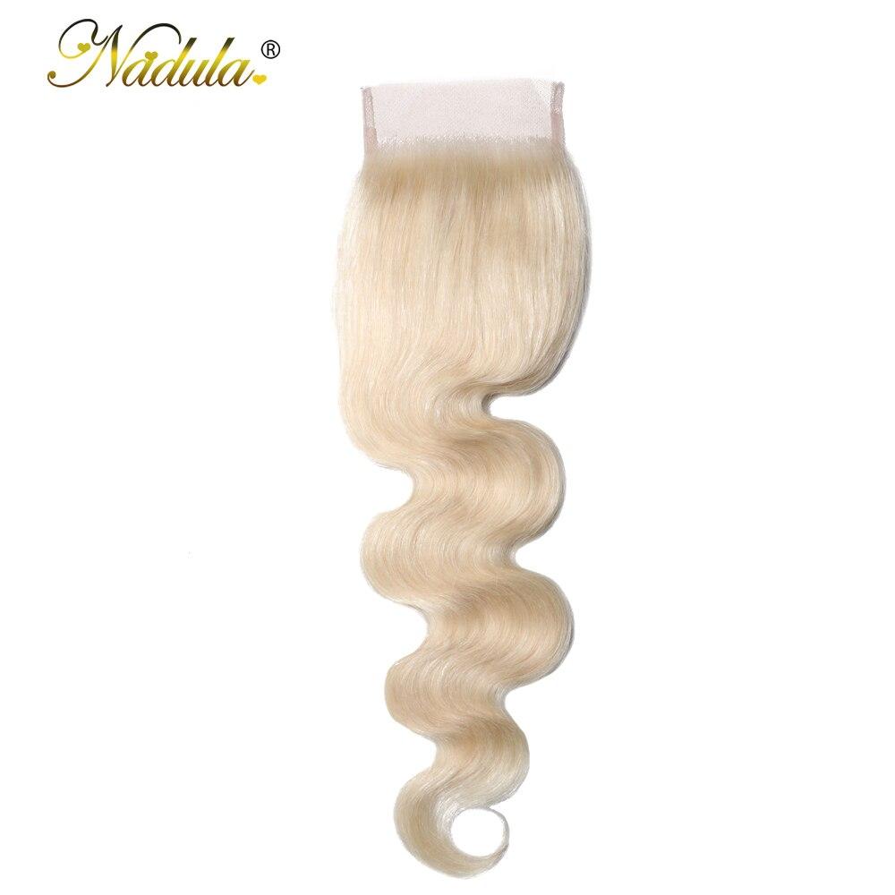 Nadula Hair Body Wave Human Hair Closure 4 4 Brazilian Hair Closure Free Part Lace Closure