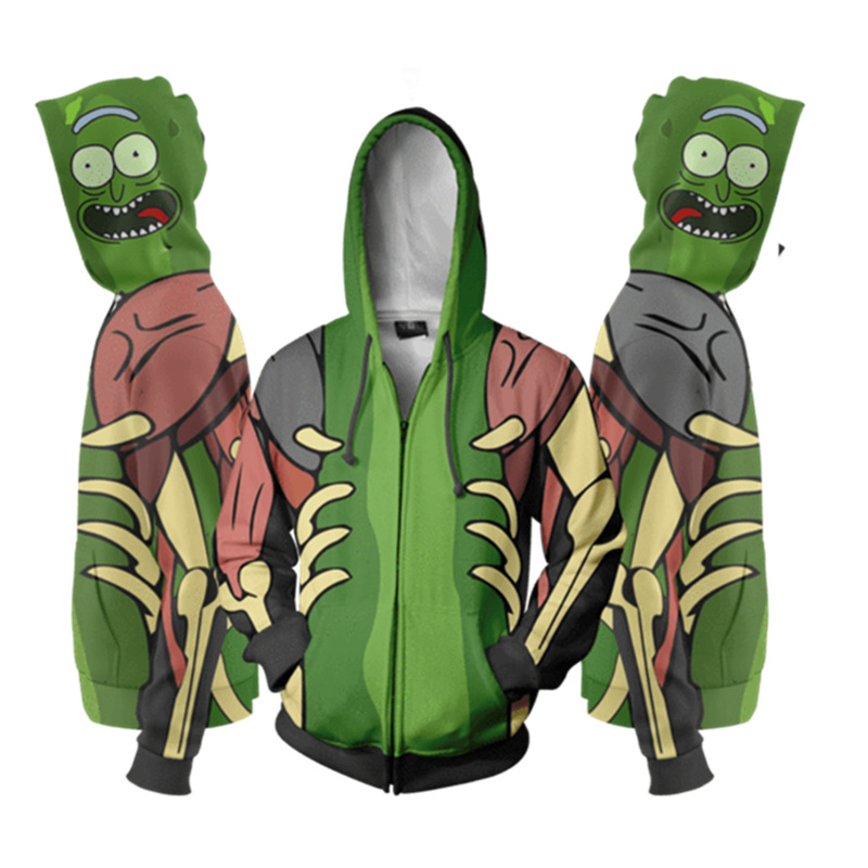 Rick and Morty Cosplay Costume Anime Hoodie  Sweatshirt Jacket Coats