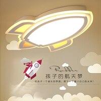Детская Мечтая самолет светодиодный Потолочные светильники Luminarias Para Teto детей Детская комната Освещение потолочный светильник Спальня реб