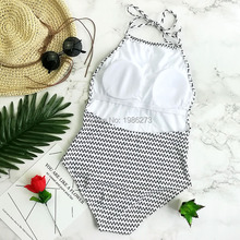 2016 NEW women swimsuit brasileiro bikini one piece swimsuit stripe swimwear women bikins One piece suit swimsuit women D0147