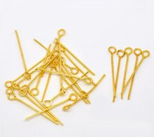 Free sjipping!!!!!  Gold Plated Eye Pins Findings 0.7x24mm  200g about 2000pcs радиолампа jj electronic 6386 l gold plated pins