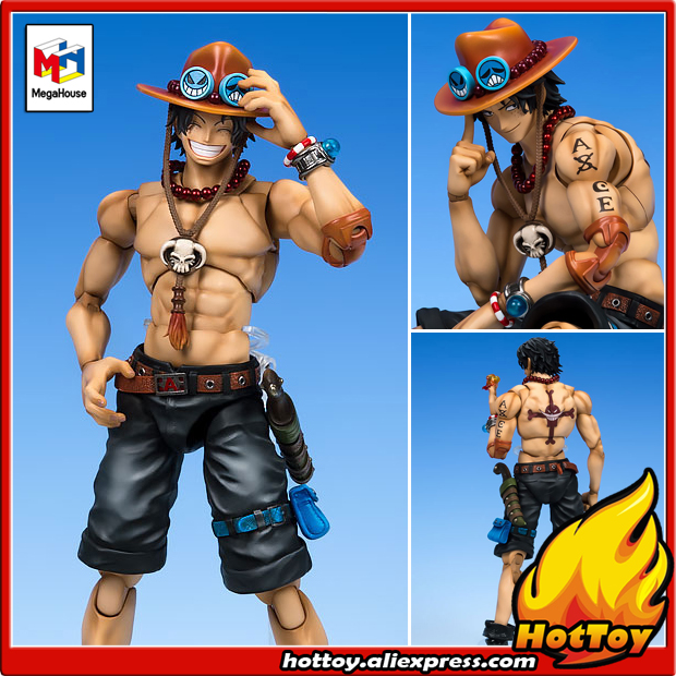 100% Original Megahouse Variable Action Heroes DX Action Figure - Portrait.Of.Pirates x VAH: Portgas D. Ace from ONE PIECE japanese anime one piece original megahouse mh variable action heroes vah action figure portgas d ace