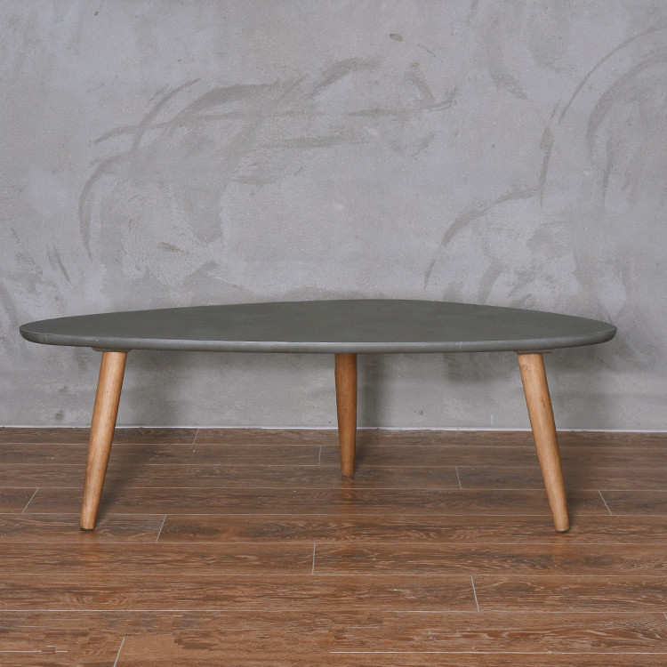 Modern Center Cocktail Table Loft Style Furniture Living Room Coffee Table  Legs Solid Wood Mid Century