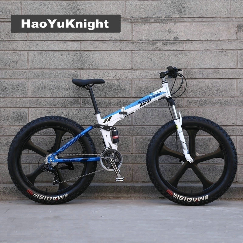 20/26 inch beach snow bike large rough width 4.0 tires men and women adult students fold ...