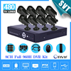 8ch Security Outdoor Waterproof Day Night Camera 8 Channel Cctv 960H D1 Recording DVR Video Surveillance