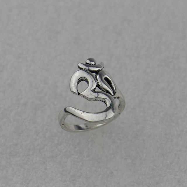 2016 New Hindoo Jewelry,OHM Hindu Buddhist AUM OM Ring Hinduism Yoga India Outdoor Sport Women/Men Ring Religious Symbol Jewelry