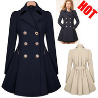 Women Fashion Jackets for Women Autumn Spring Double Breasted Pea Coat Casual Outwear England Style Solid Hot Sale S 5XL