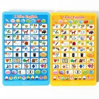 Engels alfabet Mini pad speelgoed, educatief & leren muzikale machine met Woord + Letter + Vorm + Nummer voor kinderen gift