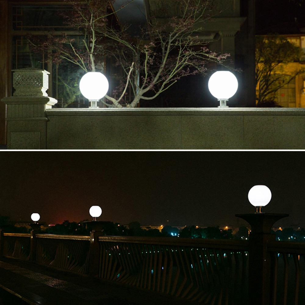 practical lighting. Acrylic Sphere Ball Light Shade Posts Exterior Lantern Solar Power Porch Practical And Elegant Pillar Post-in Lamps From Lights \u0026 Lighting On N