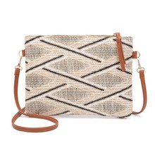 Bags for Women 2019 Fashion Hot Sales New Simple Weave Ladies Shoulder Bag Geometric Pattern Style Handbag Crossbody color splicing geometric pattern metal crossbody bag