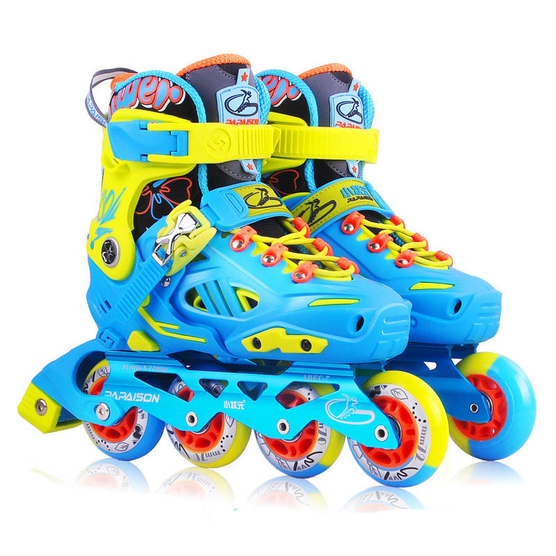Children Professional Roller Skate Shoes Protective Suit For Kid Inline Daily Street Brush Skating Adjustable PU Wheel Shoe IA91 1 pair lovely children inline ice skate roller skating shoes with brake adjustable washable pe aluminum alloy stent pu wheels
