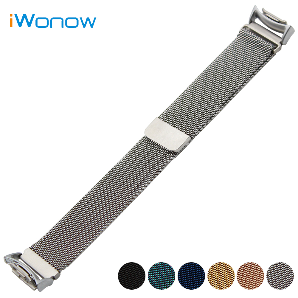 все цены на Milanese Loop Stainless Steel Watch Band 20mm for Samsung Gear S2 SM-R720 / R730 Magnetic Buckle Strap Wrist Belt Bracelet онлайн