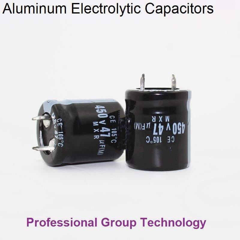 1pcs EB900 Good Quality 450v47uf Radial DIP Aluminum Electrolytic Capacitors 450v 47uf Tolerance 20% Size 22x25MM 20%