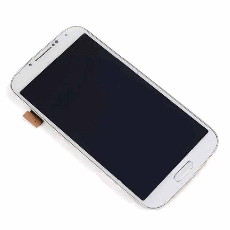 شاشة الكريستال السائل لسامسونج غالاكسي S4 GT-I9505 I9500 I9505 i337 مجموعة المحولات الرقمية لشاشة تعمل بلمس مع إطار قابل للتعديل سطوع