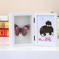 Photo Frame Swing Sets Photo Box Wedding Gift Creative Storage Box Three Dimensional Wooden Picture Frame