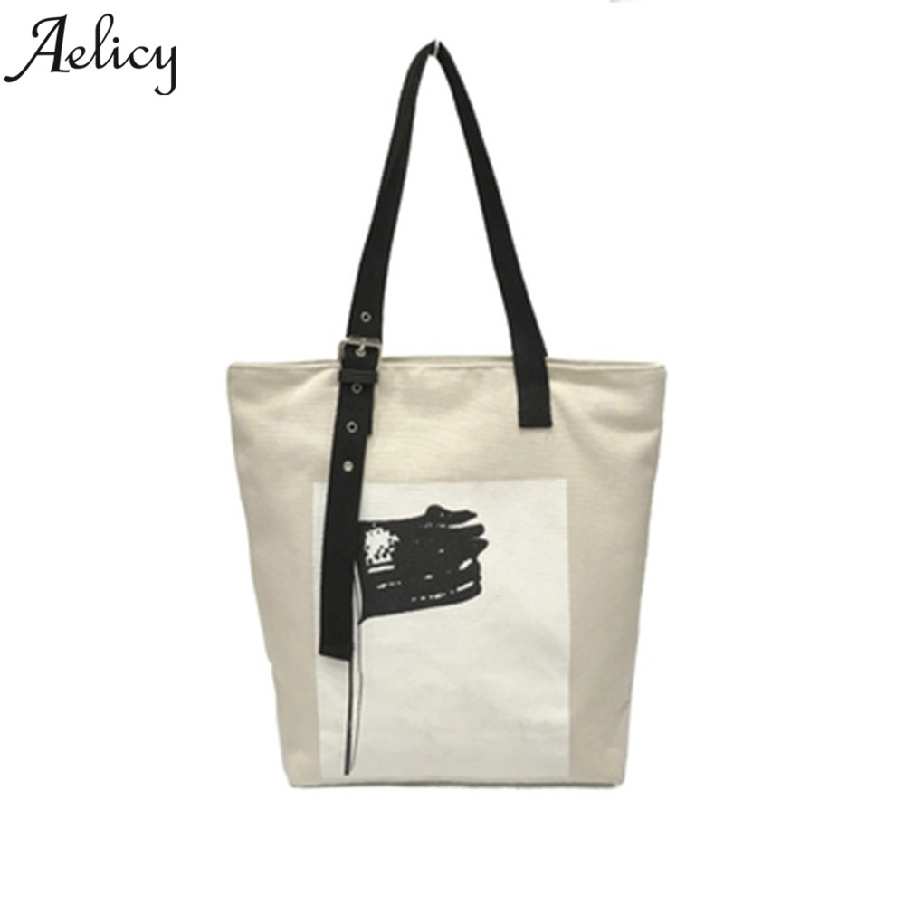 Canvas Handbag Casual Tote Bag Large Lady Handbags Bag Female Solid Shoulder Bag Canvas Shoulder Bag Female Casual