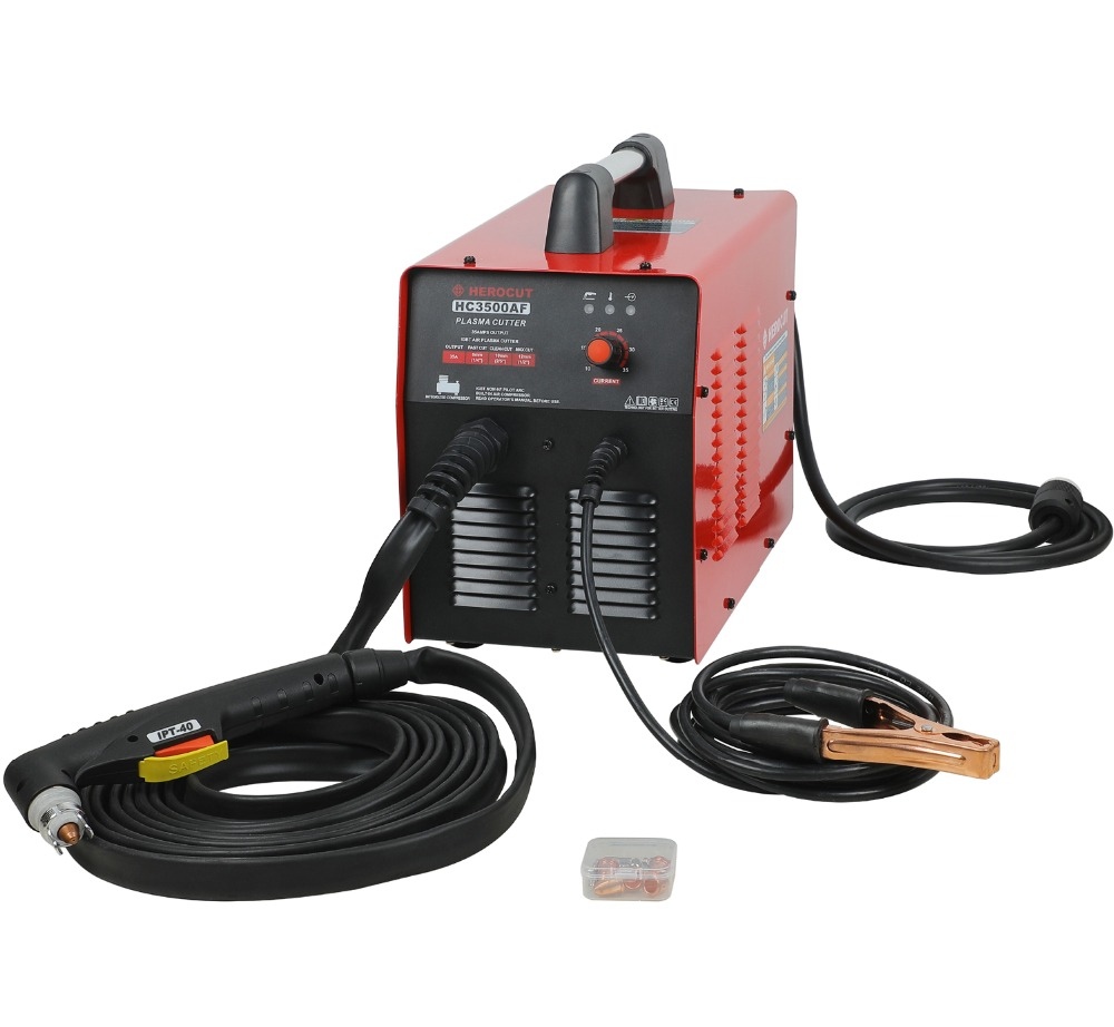 Plasma Cutter HC3500AF With Compressor 220V 35Amps Non HF Pilot Arc Plasma cutting machine 10mm Clean Cut Max Thickness 14mm igbt pilot arc hf cut70p 70amps dc air plasma cutting machine plasma cutter cutting thickness 20mm clean cut