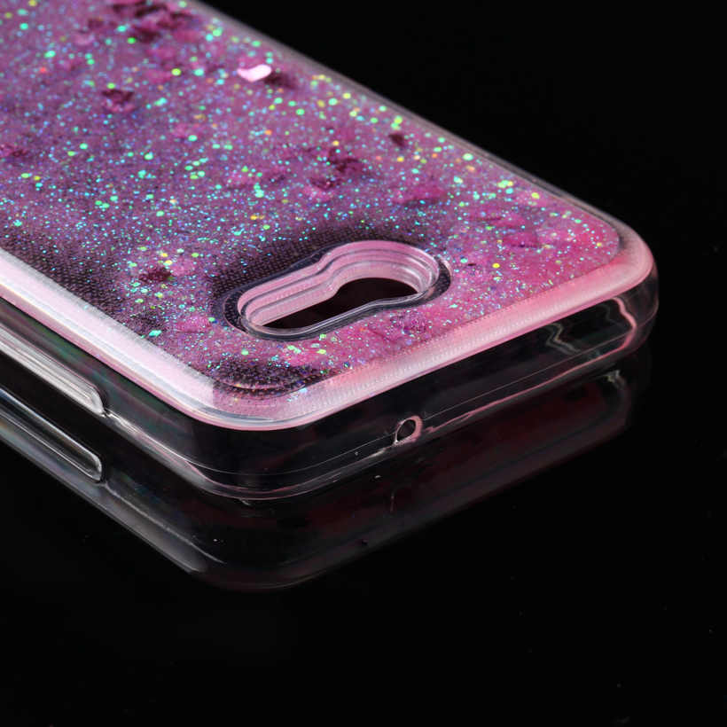 Soaptree Mobile Phone Cover Cases For Samsung Galaxy J3 Emerge J327P J3  Eclipse J327V J3 Prime Case Glitter Liquid Soft TPU Bags