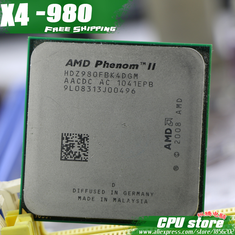 AMD CPU Socket Am3 Processor-Quad-Core AM2 Phenom-Ii X4 980 938-Pin Working Sell 100-%