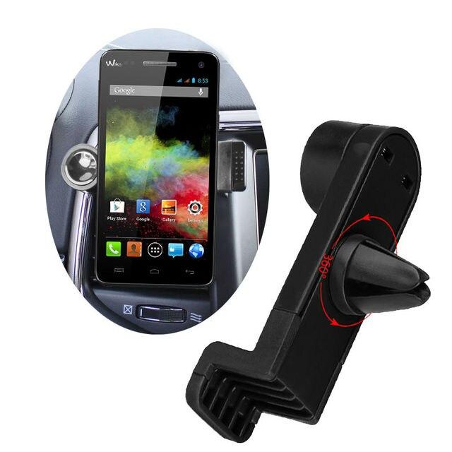 360 Degree Portable Car Air Vent Holder for Wiko Freddy, U Feel Fab, U Feel Prime, Jerry, K-Kool, Robby Phone Car Trestle