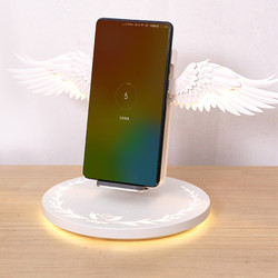 Fast Angle Wings Wireless Charger Lamp Table Light Angel Wings Inductive Wireless Charging S10 For Iphone11 Pro Xiomi Mi Note10