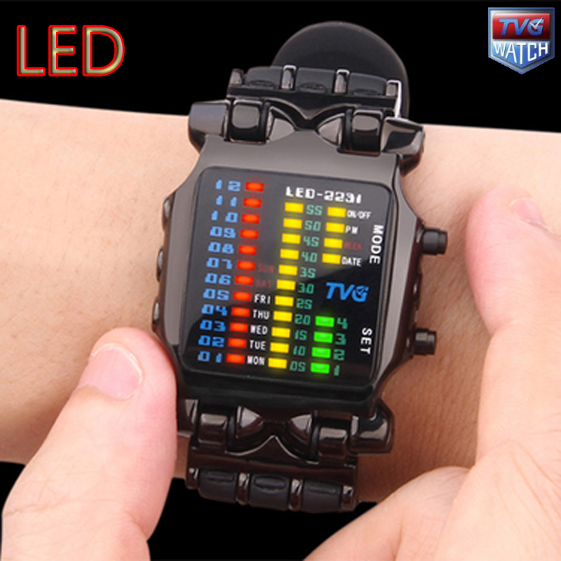 100FT Waterproof Polychromatic Light LED Digital Sport Watch  Free Shipping