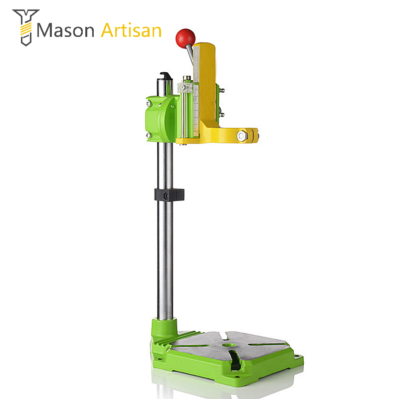 1Piece Electric Drill Stand Drill Holder Stand Multifunction Press Stand for Bench Drill Dremel Power Tool Accessories electric power drill press stand table for drill workbench repair tool clamp for drilling collet table 35