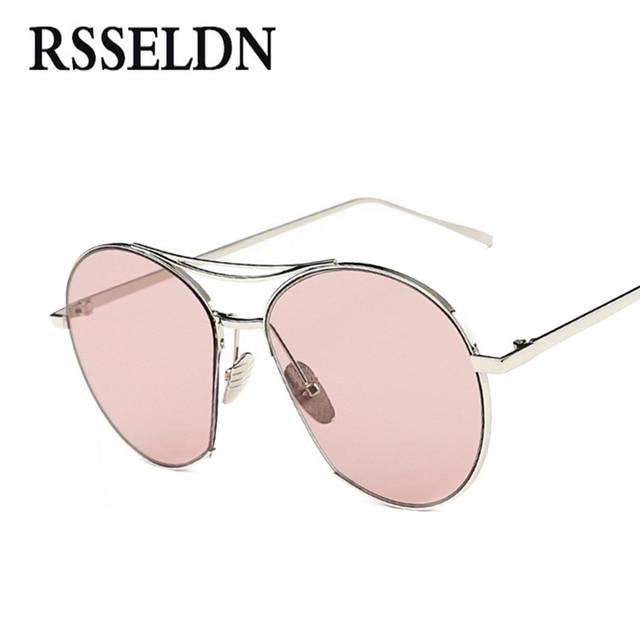 Jumping Jack RSSELDN Tendência Da Moda Óculos de Sol Óculos de Armação De Metal Mulheres Transparentes Colorido Lens UV400 Óculos de Sol Dos Homens de Design Da Marca