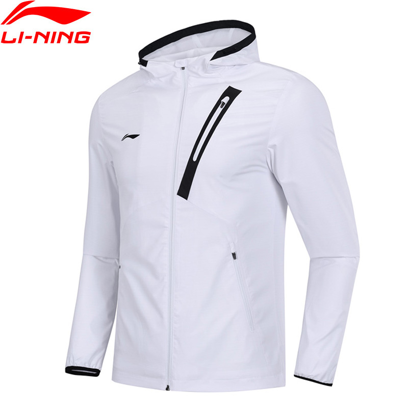 Li-Ning Men Training Trench AT PROOF SMART Windbreaker 96% Polyester 4% Spandex Regular LiNing Li Ning Sport Coat AFDP013 MWF381