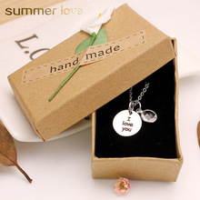 ФОТО faith/dream/i love you charm crystal pendant necklace stainless steel silver color chains for men women lover couples gifts new