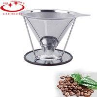 Uchwyt Filtra Zestawy Ze Stali Nierdzewnej kawy Herbaty Kawy Espresso Wielokrotnego Użytku Filtr Kroplownik Drip Wlać Ponad Kaw Filtr Siatkowy Kosz