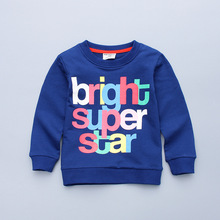 2017 spring new spherical neck colour letters youngsters boys sweater t shirt age from Three-8T