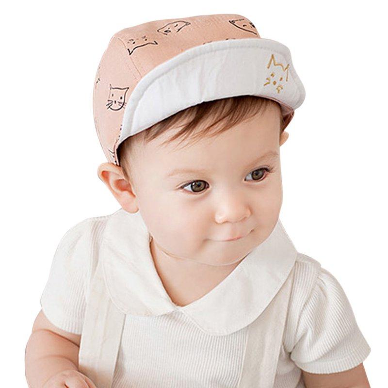 dffd9b05b59 Cute Baby Kids Cat Cap Hats Bonnet Cotton Outdoor Dress Sun Hats 4M-18M