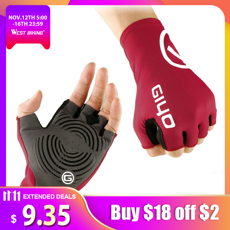 GIYO Anti Slip Gel Pad Bicycle Gloves Gel Pad Short Half Finger Cycling Gloves Breathable Outdoor Sports Men MTB Bikes Gloves mtwe9018 anti slip half finger bicycle riding cycling gloves blue grey black xl size pair