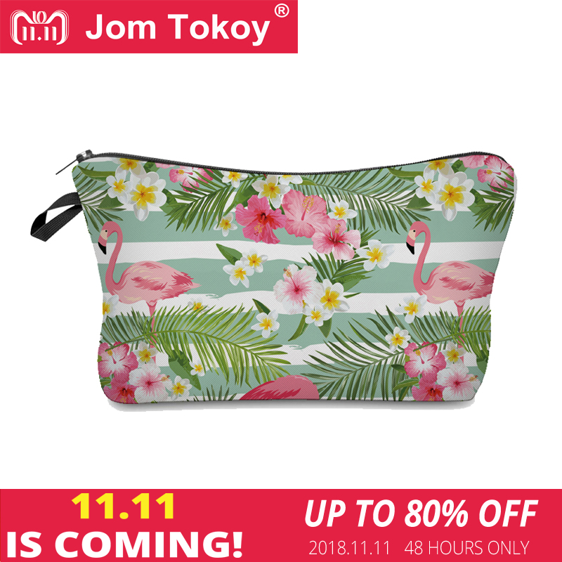 Jom Tokoy 2018 cosmetic organizer bag make up Flamingo 3D printing Cosmetic Bag Fashion Women Brand makeup bag unicorn 3d printing fashion makeup bag maleta de maquiagem cosmetic bag necessaire bags organizer party neceser maquillaje