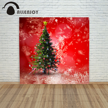 background photo christmas photography Retro tree ball red snowflakes xmas vinyl color decorations photo shoots