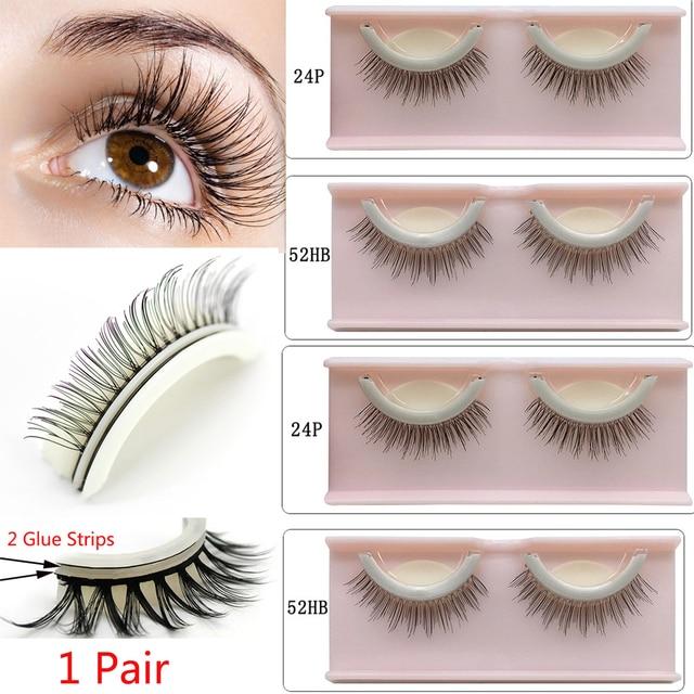 5a46ab29186 1 Pair 3D Self-Adhesive False Eyelashes Extension No Glue Required Lashes  Non-Irritating