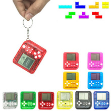 Players Console Tetris Retro Mini Portable Matchbox 26-Games Kids LCD Random-Color Built-In