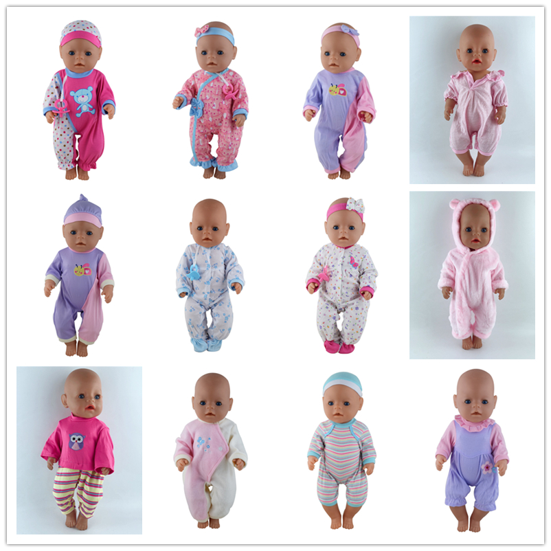 15 Style Clothes Wear For 43cm Baby Doll, Children Best Birthday Gift(only Sell Clothes)