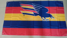 AFL adelaide crows Flag 150X90CM AFL 3X5FT Banner 100D Polyester grommets custom009, free shipping