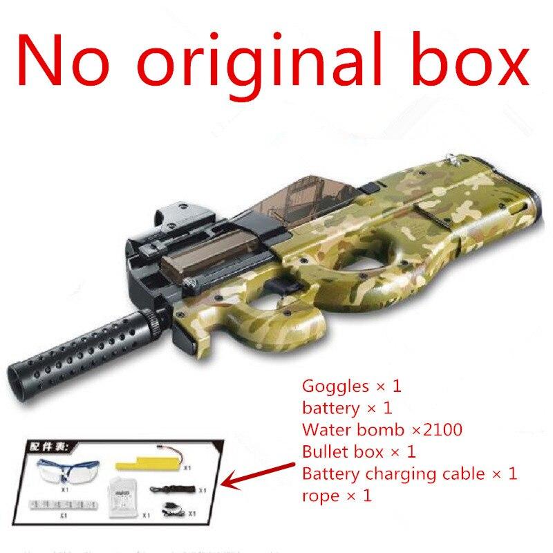 Sand color Graffiti Edition P90 Electric Toy Gun Paintball Live CS Assault Snipe Weapon Soft Water Bullet Bursts Gun Outdoors цена