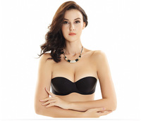 Invisible Seamless Strapless Push Up Bras for Women Half Cup Deep Plunge Sexy Bralette Bra Top for Wedding Dress Sujetador