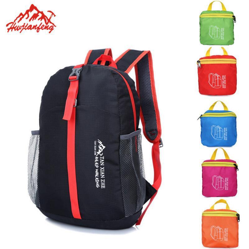 16L Folding Backpack Men Women Outdoor Travel Bag Portable Sport Bag Waterproof Ultralight Nylon Camping Hiking Backpack