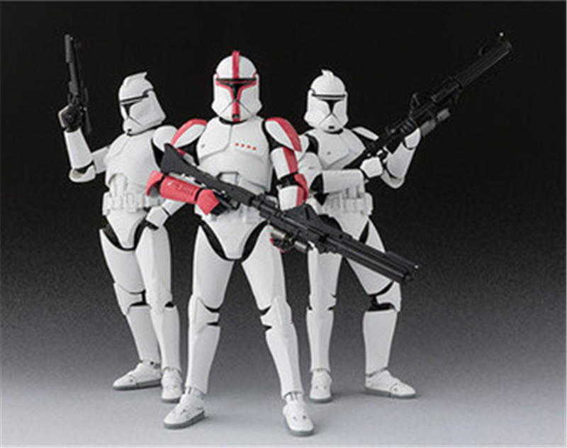 Star Wars SHF S.H.Figuarts Phase 1 Clone Trooper Captain / Phase 2 Clone Trooper PVC Action Figure Collectible Model Doll Toys 1 6 scale collectible film figure doll star wars episode iv a new hope chewbacca 12 action figure doll model plastic toys