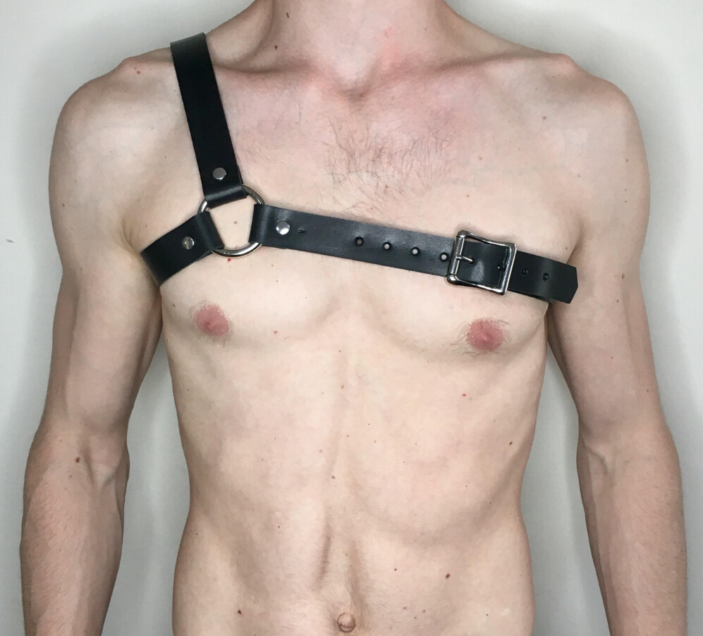 <font><b>Sexy</b></font> Adjustable Shackle <font><b>Leather</b></font> Harness Goth Shoulder <font><b>Belt</b></font> Gay Male Erotico Bdsm Bondage Chest Straps Bondage Sex Toys T <font><b>Men</b></font> image