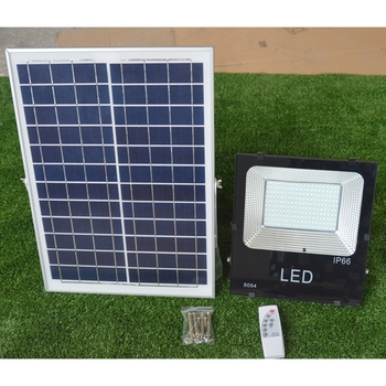 LukLoy Remote Control Solar Energy Waterproof Flood Light for Outdoor Public Square/Gymnasium/Advertising Board/Garden Lighting