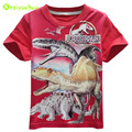 KEAIYOUHUO Boy Clothes Children T-shirt Jurassic Park Costume For Kids Dinosaur Print Tees & Tops Boys T-shirt 2017 Boy Clothing