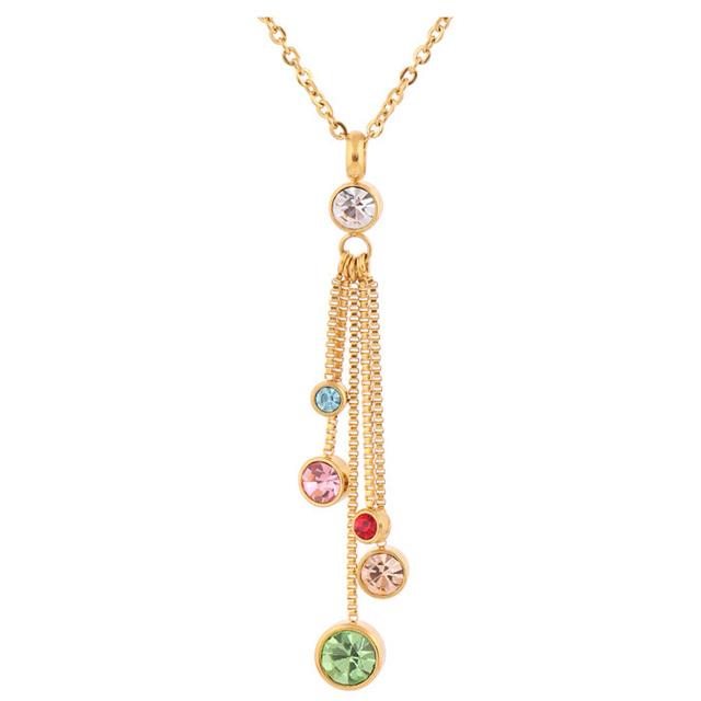Crystal Jewelry Set  Gold Romantic