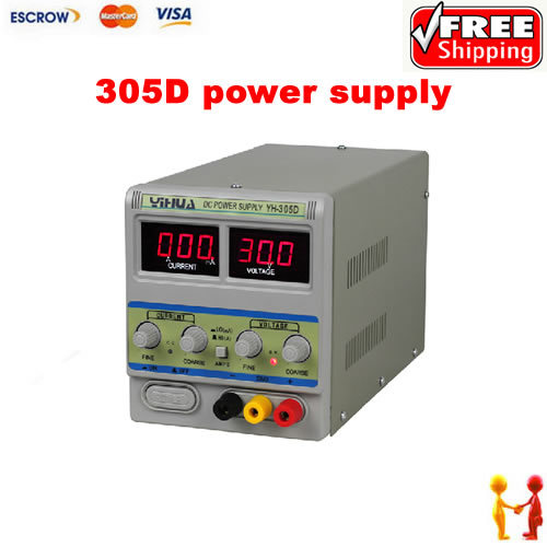 Free shipping 220V YIHUA 305D 30V 5A Adjustable DC Power Supply Mobile phone repair power test regulated power supply free shipping zhaoxin linear adjustable dc power supply rxn 305d 30v 5a