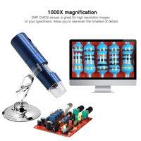 Microscopio Wi Fi Microscopio Digital Zoom de mano lupa LED cristal1000x Microscopio de carga Usb para iOS/tableta de teléfono Android|Microscopios| |  -